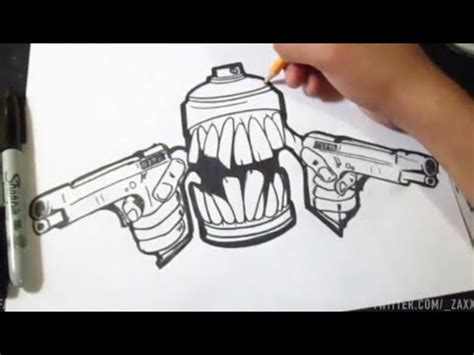 wie zeichnet spruehdose graffiti youtube