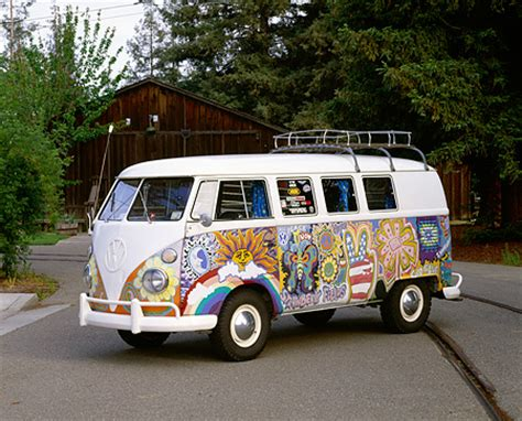 volkswagen minibus side view hippie car stock photos kimballstock
