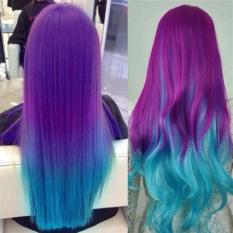 colorful ombre hair purple and blue colorful ombre hair color no matter
