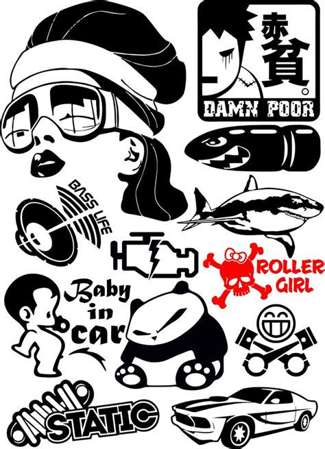 vinyl stickers vector pack  vector cdr  axisco