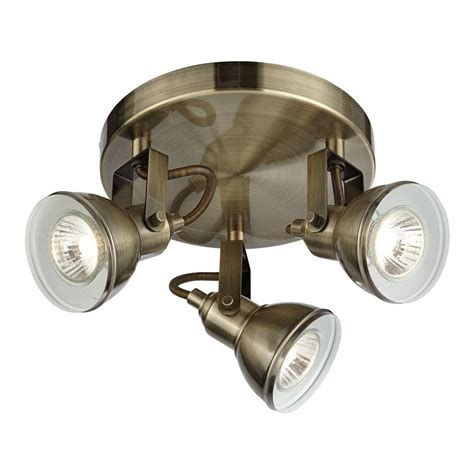 Home Light Fittings Searchlight 1543ab Focus Antique Brass 3 Light Spotlight