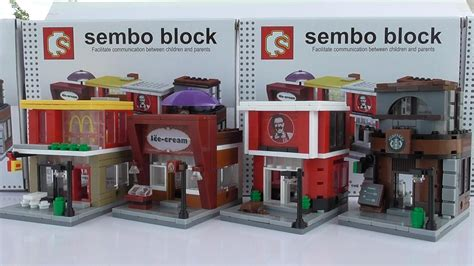 Lego Sembo by Lego Mini Stores Sembo Block เลโก ร านค าขนาดเล ก