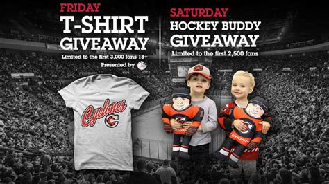 Hockey Giveaways - t shirt giveaway and hockey buddy giveaway this weekend cincinnati cyclones