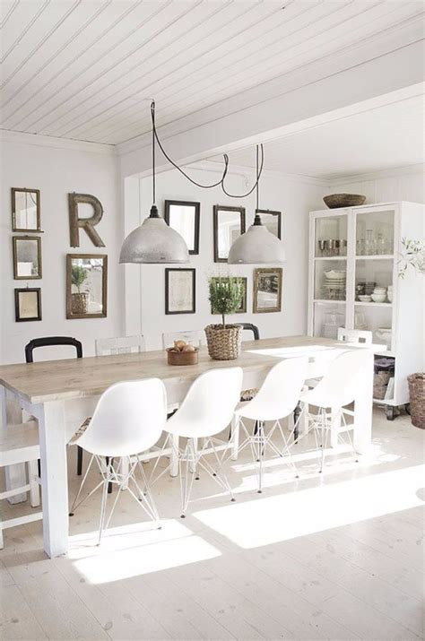 swag chandelier dining table 10 contemporary white dining rooms