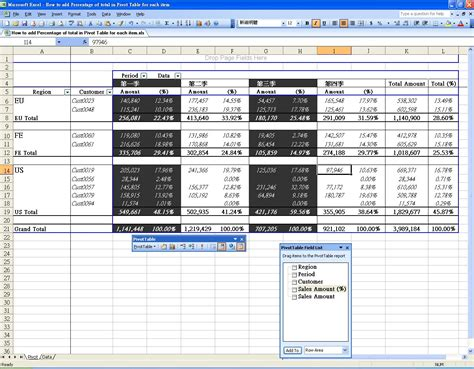 excel tutorial sites how to add percentage of total in pivot table excel solution