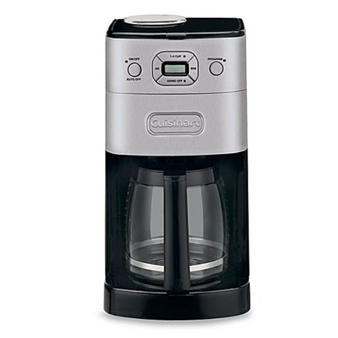 cuisinart coffee maker bed bath and beyond cuisinart 174 grind brew 12 cup automatic coffee maker