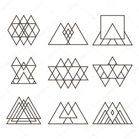 imagenes vectores de triangulos conjunto de figuras geom 233 tricas tri 225 ngulos cuadrados y