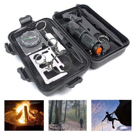 Emergency Gear Outdoor Survival Cing Hiking 8 In 1 Keychain Multi T professional emergency survival kit outdoor travel hiking cing multi tools ebay