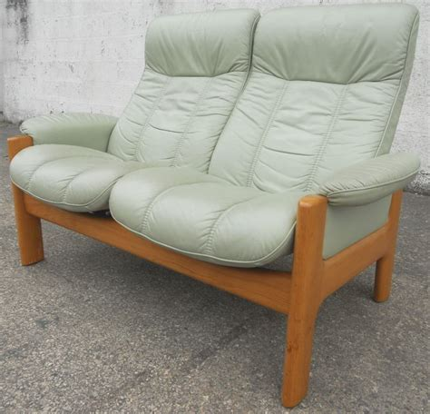 reclining settee sold stressless two seater high back loveseat leather