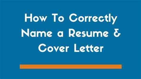 naming a cover letter what to name a resume and cover letter file zipjob