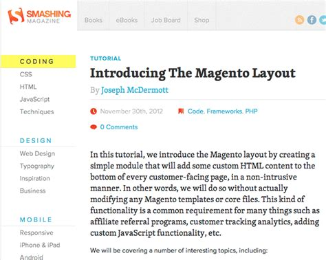 get layout xml magento magento tutorial introducing the magento layout ampersand