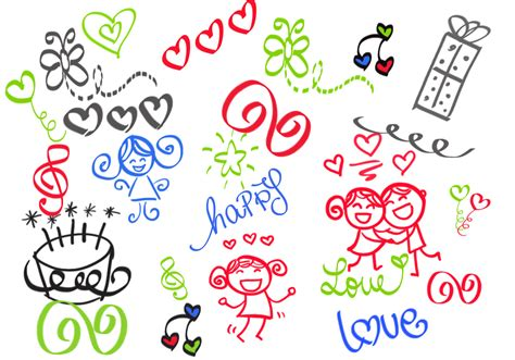 how to create doodle in photoshop happy doodles brush set free photoshop brushes at brusheezy