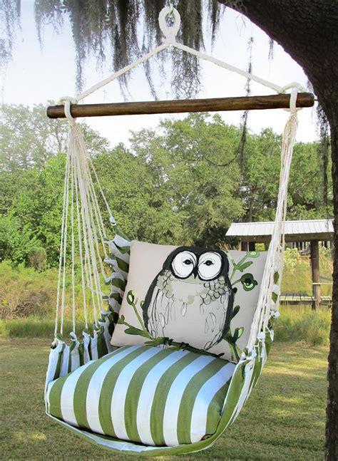 owl swing green stripe owl swing set