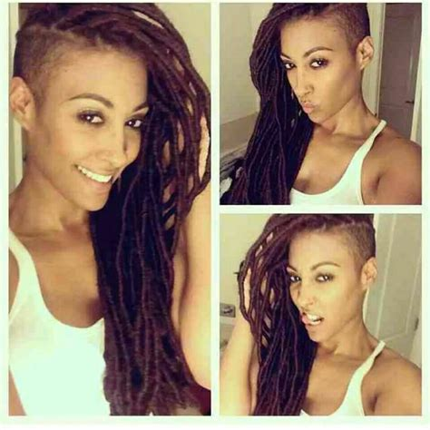 shaved nd dreads hair styles here s how you can install super long goddess faux locs on