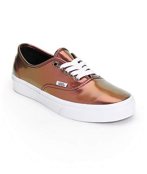 vans authentic pink patent leather shoes