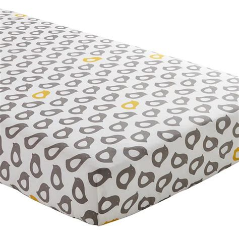 grey pattern bed sheets not a peep crib fitted sheet yellow chick the land of nod