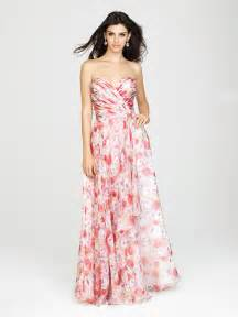 allure 1436 long floral print bridesmaid dress french novelty