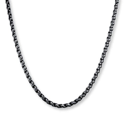 s wheat chain stainless steel necklace 24 quot length