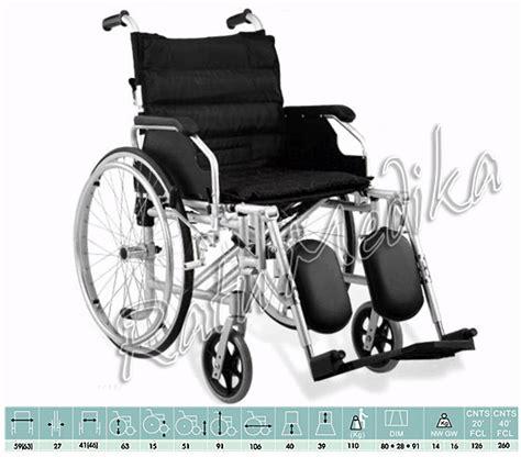 Kursi Roda Comfort kursi roda nyaman hitam elegan aluminium travelling ringan bisa angkat kaki