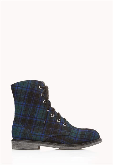 blue combat boots forever 21 grunge combat boots in blue lyst