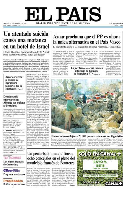 28 de marzo portada 28 de marzo de 2002 aniversario el pa 205 s