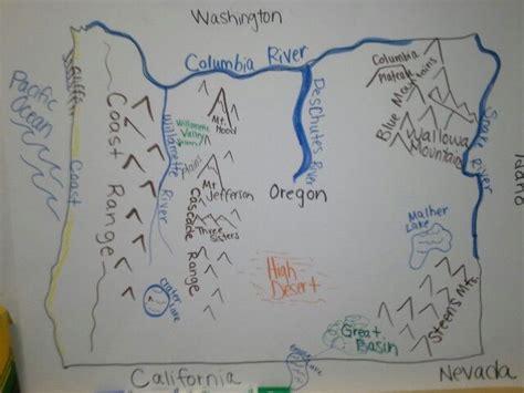 map of oregon landforms 18 best landforms images on teaching social