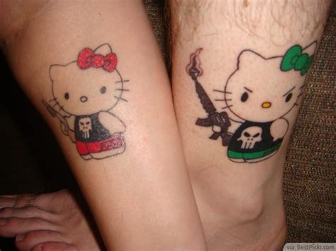 Couple Kitty Tattoo | 31 best matching tattoos for couples cool love design
