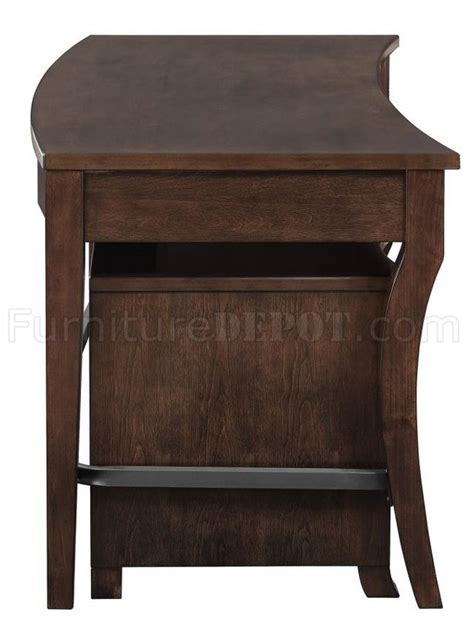 writing desk with matching file cabinet 801751 living coaster smokey black writing desk