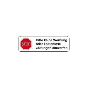 Aufkleber Keine Werbung Keine Kostenlosen Zeitungen by Briefkasten Aufkleber 171 Stop Keine Werbung 187 Hier