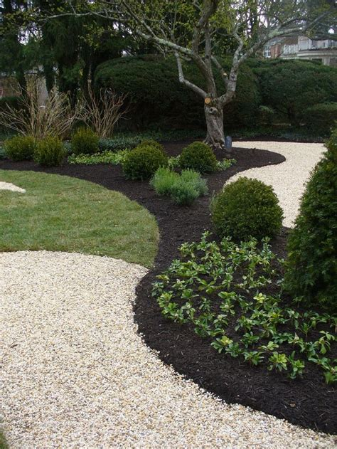 black mulch crushed rock garden design crushed rock
