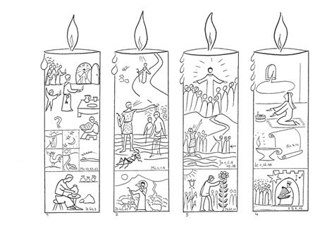 Candle Advent Epiphany St Charbel Church Sydney Australia Advent Coloring Page