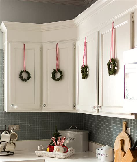 top of kitchen cabinet christmas decorating ideas christmas in the kitchen