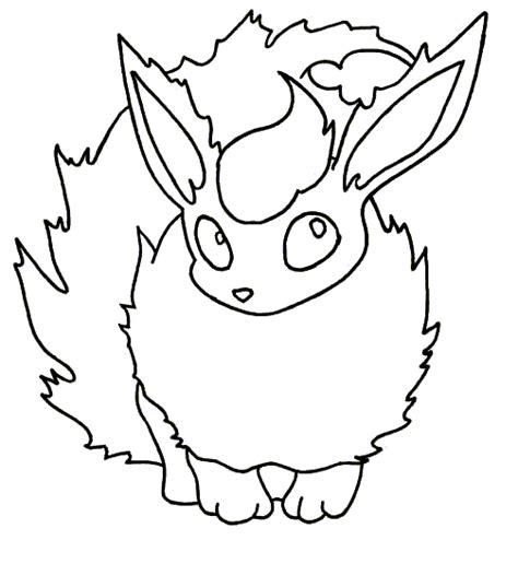 pokemon flareon coloring pages sketch coloring page