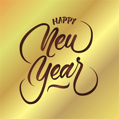 happy  year vector hand lettering   vector art stock graphics images