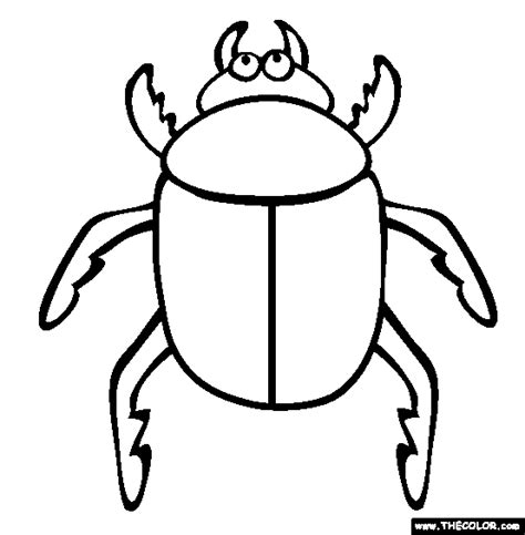 bug template insect coloring pages page 1