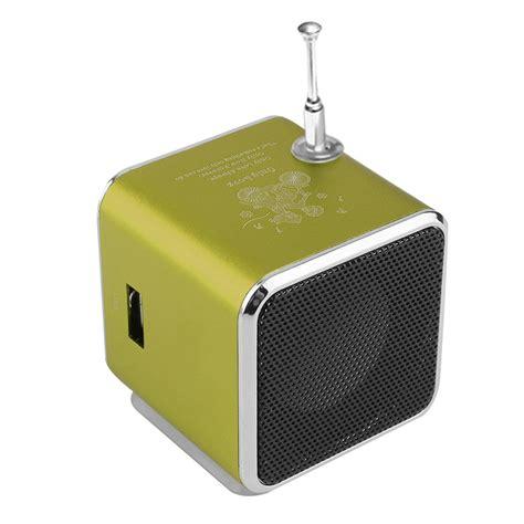 Speaker Usb Bass Mini portable micro usb mini stereo bass speaker mp3 4 fm radio f5 ebay