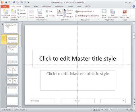 Edit Master Slide Powerpoint 2010 Bellacoola Co Powerpoint 2010 Edit Master Slide