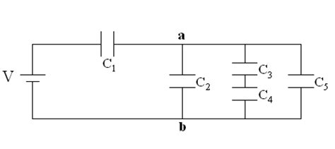 capacitor network circuit in this circuit what is the potential difference chegg