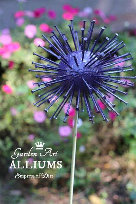 giant garden art alliums garden art diy garden projects garden ornaments