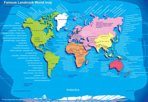 world travel map world  map famous destinations
