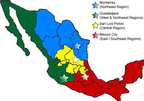 regional map of mexico tecsa market coverage