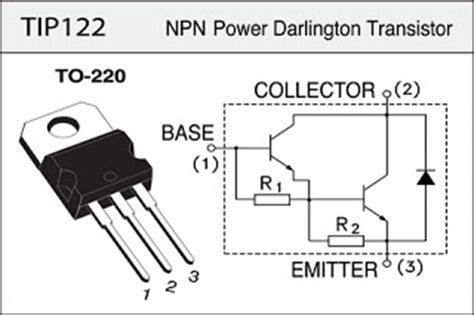 equivalent transistor for tip122 electronic components fans high current dc devices tip122