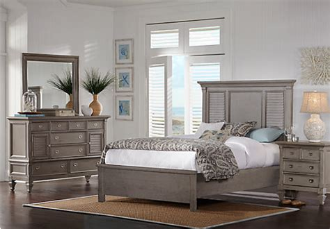 caribbean bedroom furniture belmar gray 7 pc queen bedroom panel traditional