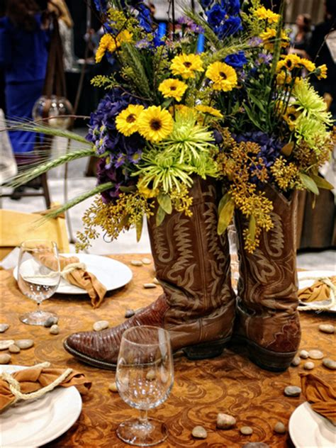 western table decorations western centerpieces on