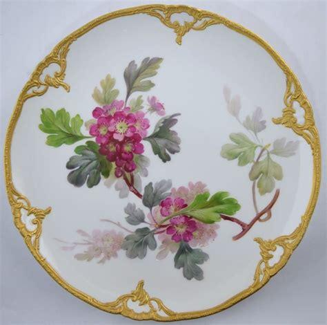 Gorgeous Botanical Plates antique kpm botanical porcelain plate quot rotdorn quot gorgeous