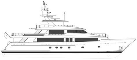 big boat outline westport 130 tri deck motor yacht wp130 40m