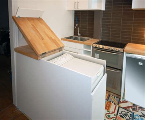 Clever Kitchen Design Clever Kitchen Cabinet Hides Full Size Washing Machine