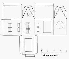 small cardboard house template simple house papercraft models pesquisa