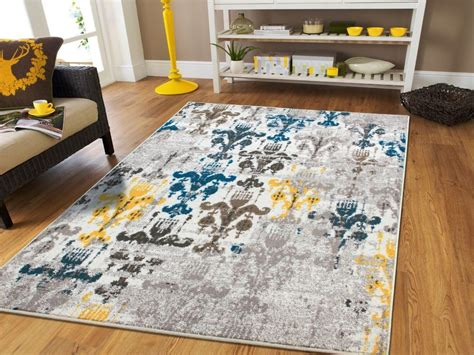 Modern Area Rugs 8x10 Luxury Modern Faded Style Area Rugs 8x10 Yellow Grey Rug 8x11 Rugs 5x8 Blue Rugs Ebay