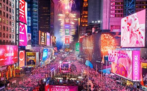 new year in city times square in new york city usa happy new year